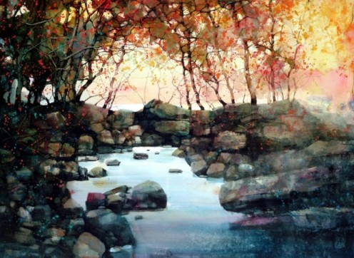 Water colour paintins - ZL Feng - Shangai Artist (1).forblog