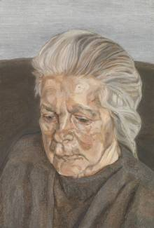 The Painter's Mother IV 1973 by Lucian Freud 1922-2011