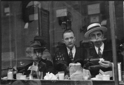 Men Eating at Lunch Counter Window, Lexington Avenue, New York City 1929-30