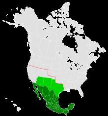 Mappa che mostra il territorio messicano nel 1917 (verde scuro), con il territorio promesso al Messico da Zimmermann nel telegramma colorato in verde chiaro.