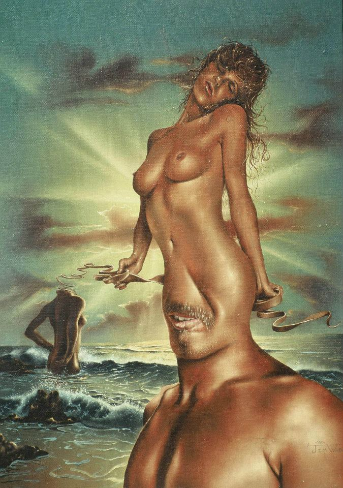 Jim Warren 1949   - American Fantasy and Surrealist painter -