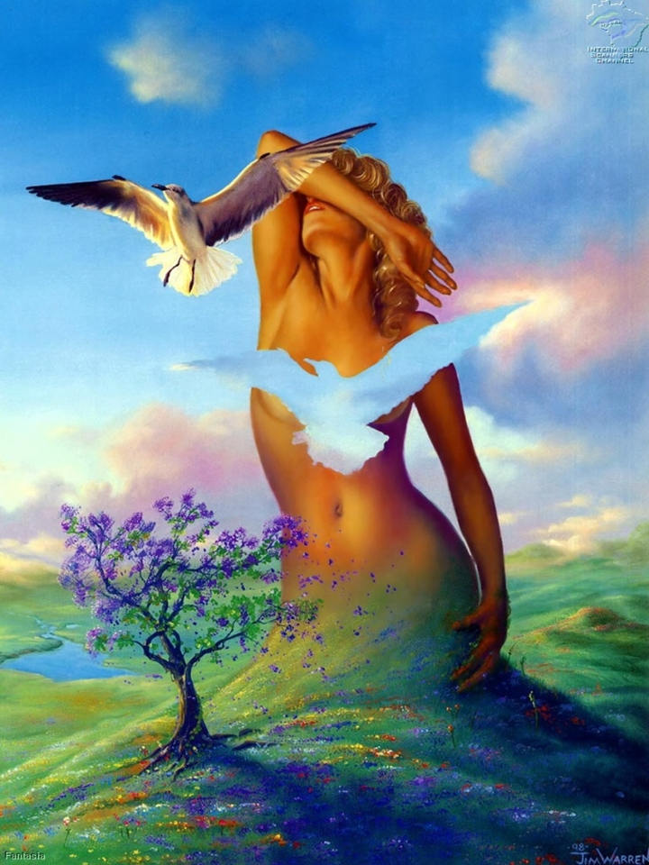 Jim Warren 1949   - American Fantasy and Surrealist painter - Tutt'Art@