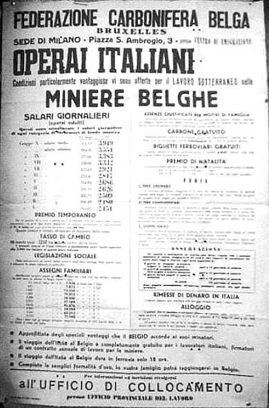 Storia –  Il carbone belga e la schiavitù degli italiani. (2/6)
