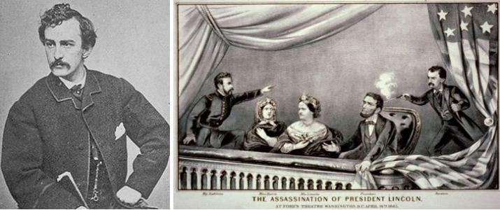 John Wilkes Booth e ricostruzione omicidio Lincoln