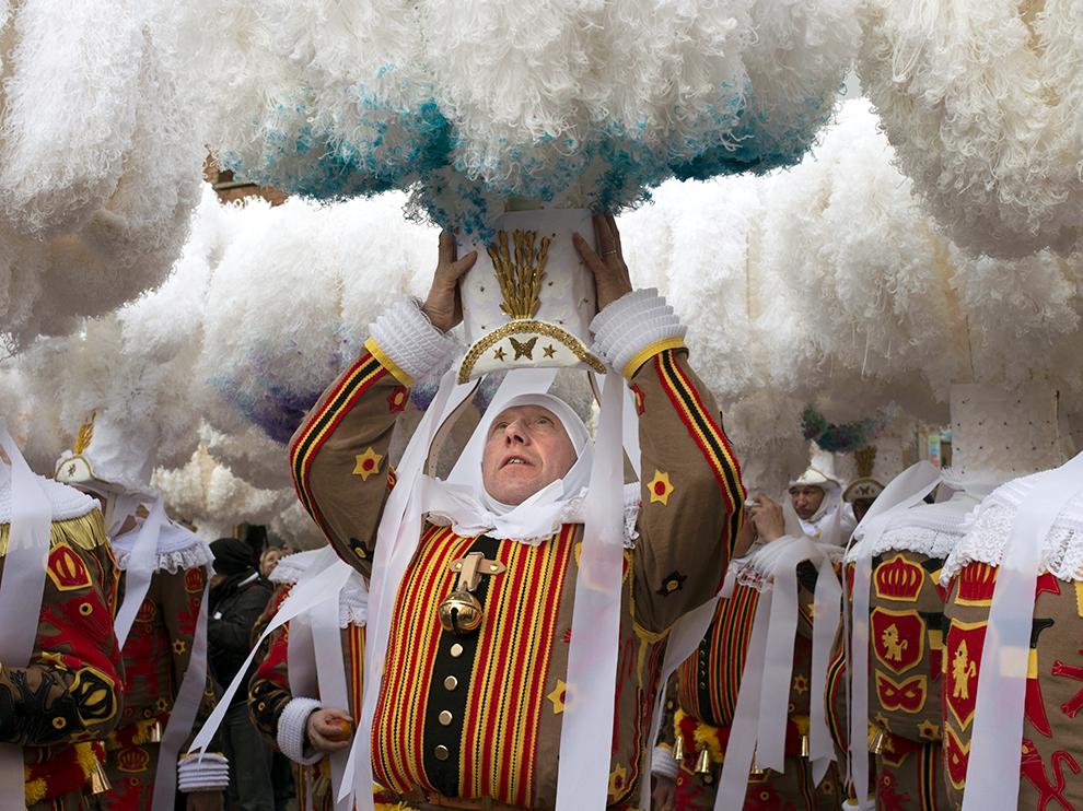 Binche festival carnival in Belgium Brussels