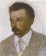 Vilhelm Hammershøi *oil on canvas  *33.4 x 28.2 cm